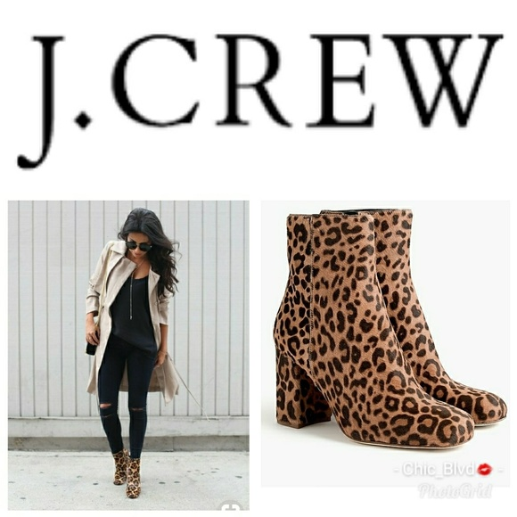 9fd34bd19db55 J. Crew Shoes | Jcrew Calf Hair Leopard Boots | Poshmark